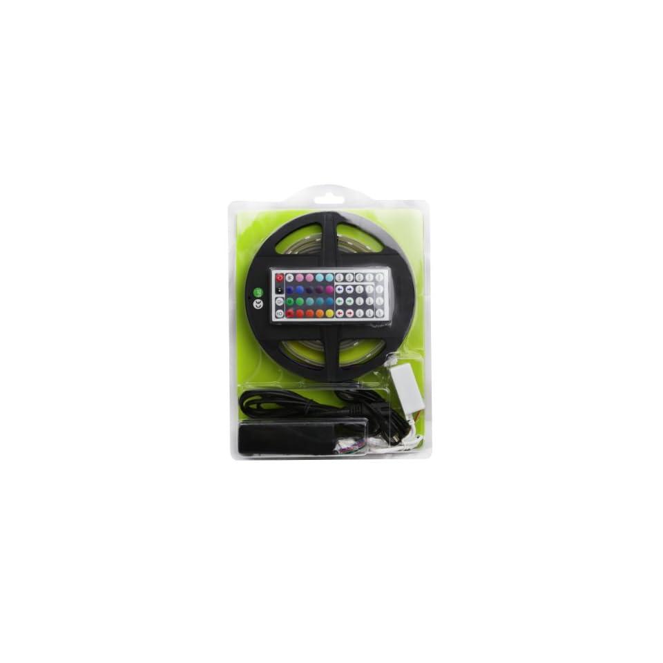 LE 12V Flexible RGB LED Strip Light Kit, Waterproof, LED Tape, Multi colored, 75 Units 5050 LEDs, Light Strips, Pack of 8.2ft/2.5m