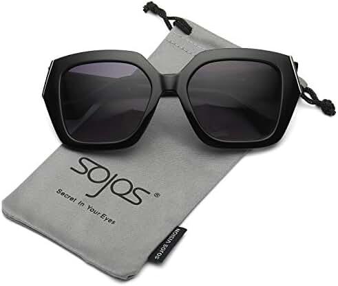 SojoS Womens Unique Big Huge Frame Oversized Squared Fashion Sunglasses SJ2029