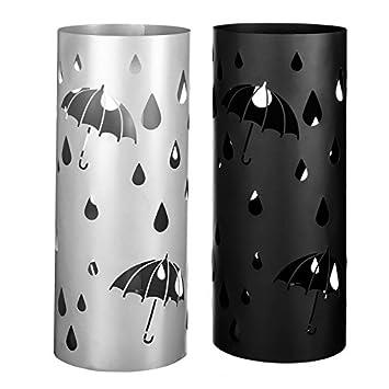 Porte-parapluies Moderne Métal Noir et gris 19,50 x 19,50 x 49 cm ...