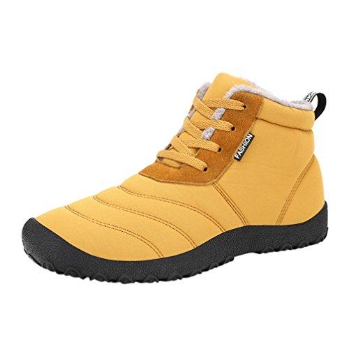 Snow Boots Sports Shoes, SOMESUN Winter Snow stivali impermeabili Insulated informale allaperto Sport Scarpe delle donne degli uomini donna (39, Yellow)