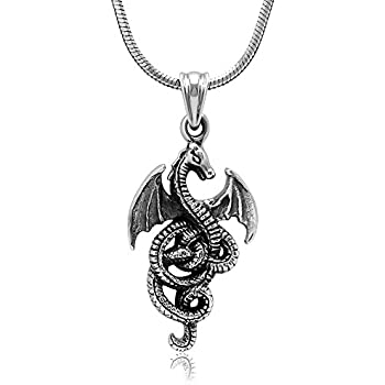 Amazon com: Paw Paw House Dragon Dream Catcher Pendant