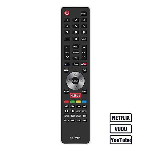 Gvirtue EN-33926A Remote Control CompatibleReplacement for Hisense EN33926A TV Remote, Applicable 32K366W 40K366WB 32K20DW 32K20W 40H5 50K610GWN 55K610GWN XV5849 32H5B 40H5B 40K366WN 48H5 50H5B