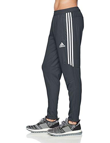 adidas Men's Soccer Tiro 17 Pants, Small, Dark Grey/White/White by adidas (Image #3)
