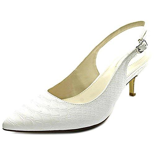 Alfani Womens Babbsy Pointed Toe Slingback Classic Pumps, White, Size 7.5 - Alfani Slingback