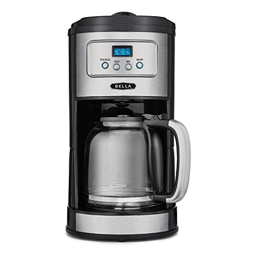 BELLA Classics 12 Cup Programmable Coffee Maker, Bold Brew Stainless and ()
