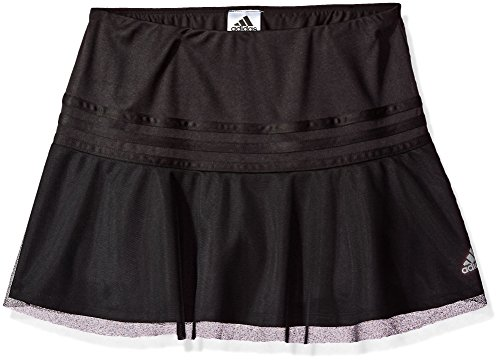 adidas Big Girls' 0, Black Adi, Medium Girls Skort Skirt Shorts