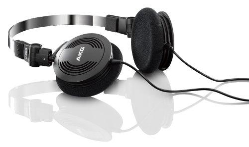 AKG K403 Semi Open Foldable Mini On-Ear Headphone (Black)