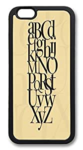 ACESR Alphabet Lightweight iPhone 6 Case TPU Back Cover Case for Apple iPhone 6 4.7inch Black