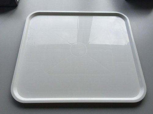 Serviertablett Maße 40x45 cm weiß ABS Kunststoff / Melanim
