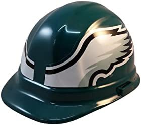 5706d1f91e7 Texas American Safety Company NFL Philadelphia Eagles Hard Hats with  Ratchet Suspension