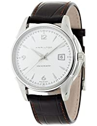 Hamilton Men's H32515555 Brown Leather Swiss Automatic Watch with White Dial