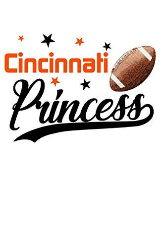 Cincinnati Princess: Football Blank Lined Journal Notebook Diary 6x9