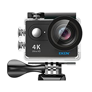 EKEN H9/H9R, Ultra HD 4K Waterproof Action Camera (Sports DV camcorder with 2 Batteries, Charging Dock, Selfie Stick and 28 Mountings Kit), one of the most Cost-effective Sports Cameras
