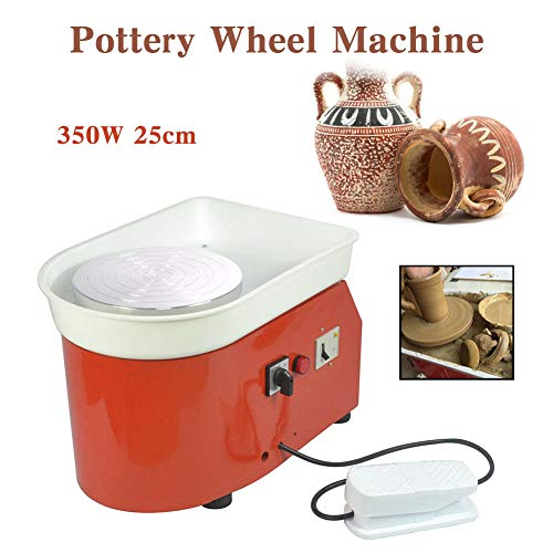Barbella Pottery Wheel Pottery Forming Machine 250W Electric Pottery Wheel DIY Clay Tool with Tray for Ceramic Work Ceramics Clay (Orange) by Barbella (Image #2)