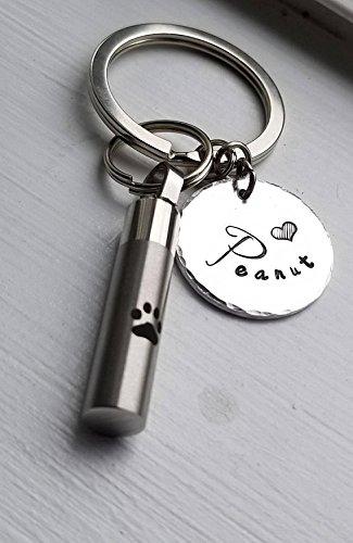 Dog Memorial Keychain With Urn