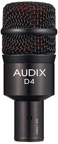 Audix D4 Dynamic Microphone, Hyper-Cardioid (Renewed)