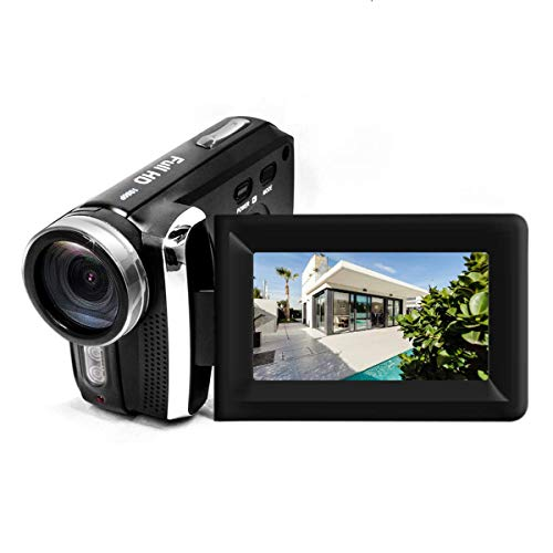 "Mini Digital Camcorder, Vmotal 12MP 1080P DV Camcorder / 2.8"" TFT LCD Flip Screen / 270 Degree Rotatable Digital Video Camera for Kids/Beginners/Elderly (No Tape Slot)"