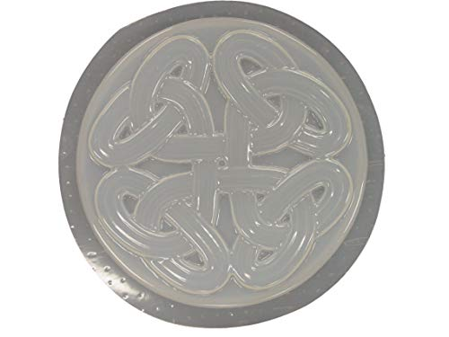 Celtic Weave Concrete Plaster Stepping Stone Mold 1198