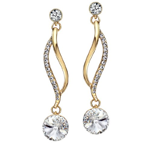 Neoglory Jewelry White Austria Crystal Drop Earrings Party Fashion (2 Dangle Earrings Jewelry)
