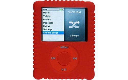 Switcheasy Silicone Biscuit Case for iPod Nano 3G- Color Red (Generation 3rd Dlo Nano Ipod Case)