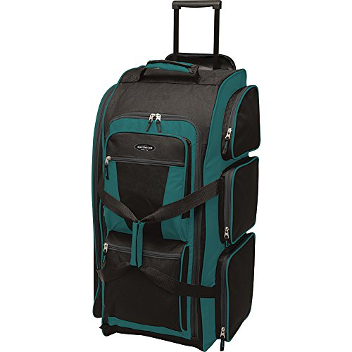 "Travelers Club Luggage 30"" Xpedition Multi-Pocket Rolling Duffel- Exclusive"