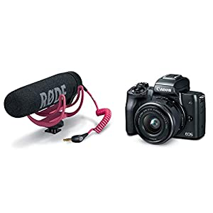 Canon EOS M50 Mirrorless Camera Video Creator Kit w/EF-M 15-45mm Lens, Black, Bundle with Rode VideoMic GO + Cam Bag…