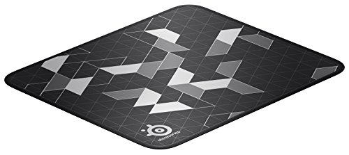 4534b301df3 Amazon.com: SteelSeries QcK Gaming Surface - Medium Stitched Edge Cloth  Limited - Extra Durable - Optimized For Gaming Sensors - Black/Silver:  Computers & ...