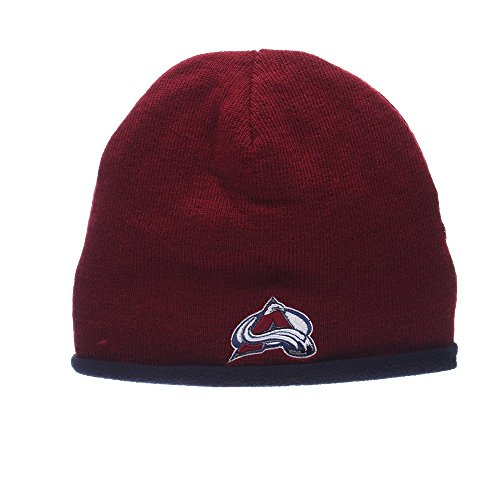 Nhl Reversible Knit Hat - Colorado Avalanche NHL Flip Out Reversible Fleece Knit Beanie Hat Maroon/Black