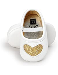 Baby Girl Moccasins Princess Sparkly Premium Lightweight Soft Sole Prewalker Toddler Shoes