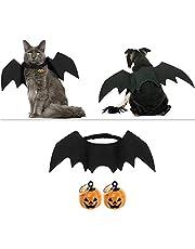Outgeek Halloween-kostuum voor huisdieren, vleermuismotief, cosplay-kostuum voor honden, kattenkostuum voor feestjes