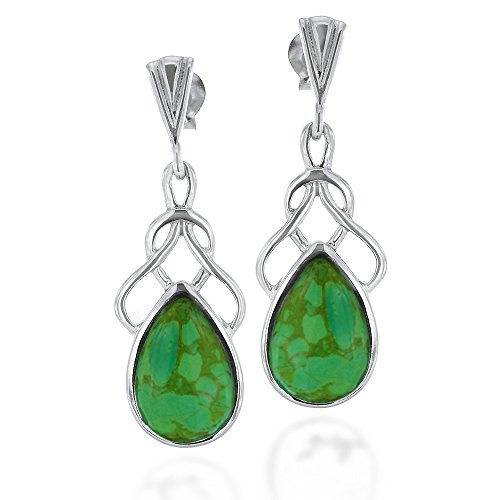 Rhodium Plated Sterling Gemstone Earrings product image