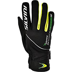 Cold Weather Cycling Gloves for Road & Mountain Bike For Men ORTLES By SILVINI / Black-Forest size XXL