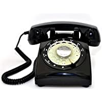 Black Color Vintage 1970s STYLE ROTARY Retro old fashioned Rotary Dial Home Telephone