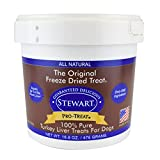Stewart Freeze Dried Turkey Liver Dog Treats, Grain Free All Natural, Made in USA using Human Grade USDA Certified Liver by Pro-Treat, 16.8 oz., Resealable Tub Review