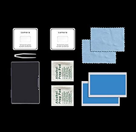 2-Pack Anti-Scratch Tempered Glass Foil Film +Motor Cover Cap Vior Mavic Mini Protector Accessories Set Propeller+ DIY Skin Shell Decoration Sticker for DJI Mavic Mini Drone Red