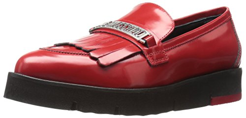 love-moschino-womens-fringe-slip-on-loafer-red-38-eu-8-m-us