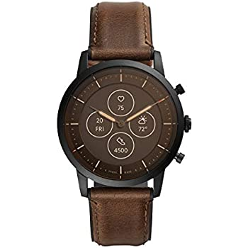 Fossil Mens Collider HR Heart Rate Stainless Steel Hybrid Smartwatch