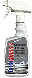 Duragloss 551 Marine/RV Aluminum Cleaner, 22-Ounce Trigger Spray, 22 oz, 1 Pack