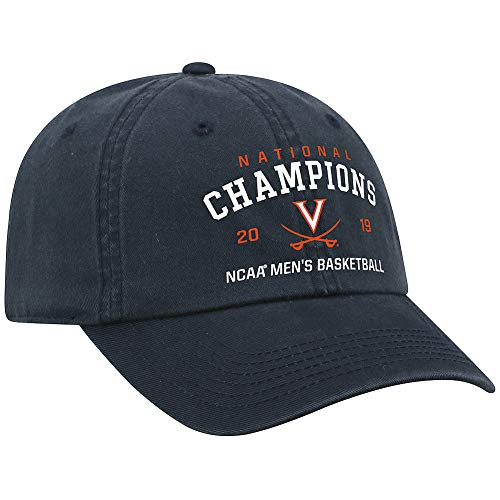 Elite Fan Shop UVA Virginia Cavaliers National Basketball Championship Hat 2019 Classic - Adjustable - Navy