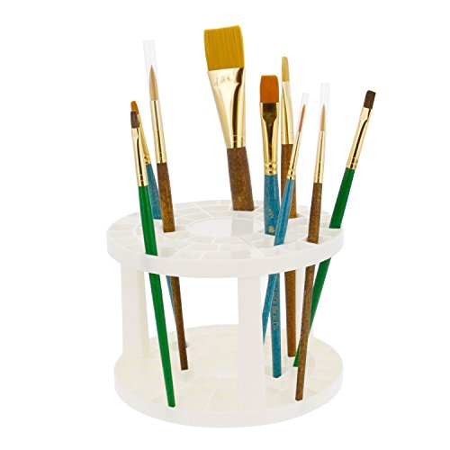 Art Supply Holder (U.S. Art Supply Plastic Artist Round Multi Hole Paint Brush Orgainzer Holder - Holds 50 Brushes Upright)