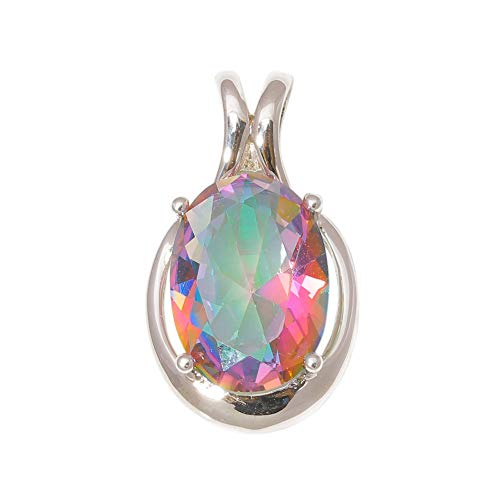 New Mystic Topaz Silver Plated for Women Jewelry Fashion Handmade Pendant ND598