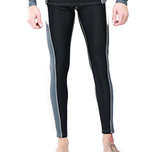 GOGO Swim Pants, Swim Tights, Swimming Pants for Men - Grey,L