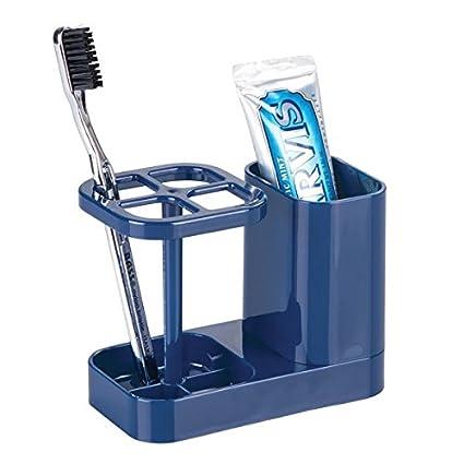 mDesign Elegante soporte para cepillos de dientes – Práctico portacepillos de dientes – Soporte de plástico
