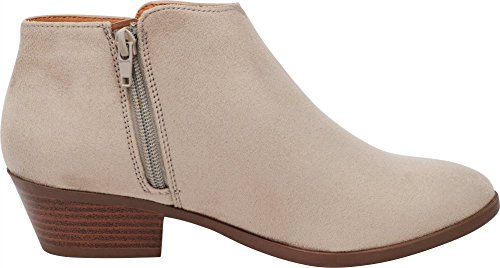 Ankle Clay Closed Stacked Heel Bootie Cambridge Toe Imsu Round Western Select Women's aAwx78