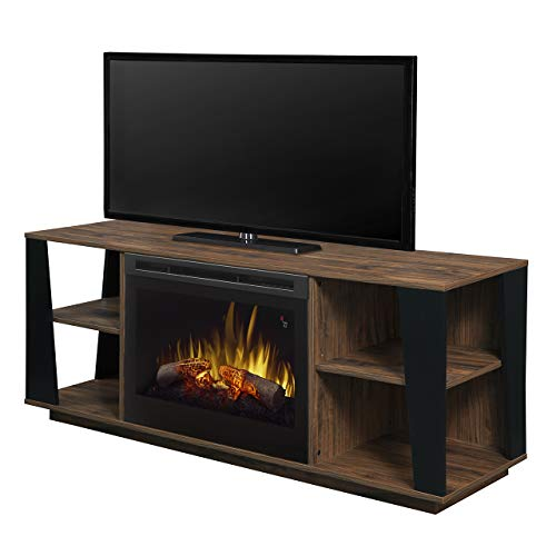 (Dimplex Arlo Media Console Electric Fireplace with Logs)