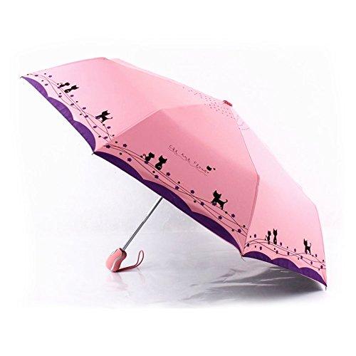 Princess Umbrella Folding Shade Umbrellas Fashion Woman (pink) by Tomato99