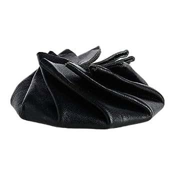 Amazon.com: CTM piel Unisex Squeeze Coin Pouch, negro, talla ...