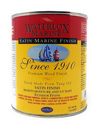 Waterlox Satin Marine Finish- Quart (Best Exterior Finish For Mahogany)