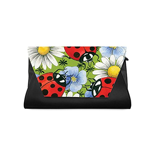 Clutch Bags for Women, Ladybug Printed Clutch bag, One-side Printing ()