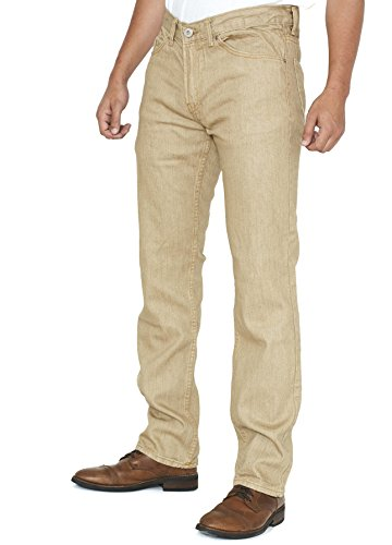 Slim Fit Men's Jeans - Tan - Size 34/30 - By New York Avenue (Jeans Tan Pants)